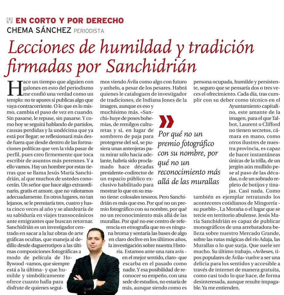 Artículo sobre Sanchidrián