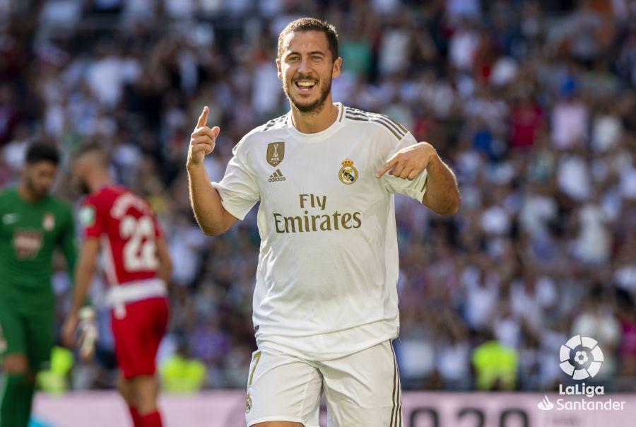 Octava jornada de Liga 2019-2020. Hazard celebra su primer gol en Liga ©LaLiga