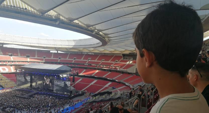 Música Pablo en el concierto de Bon Jovi en el Wanda