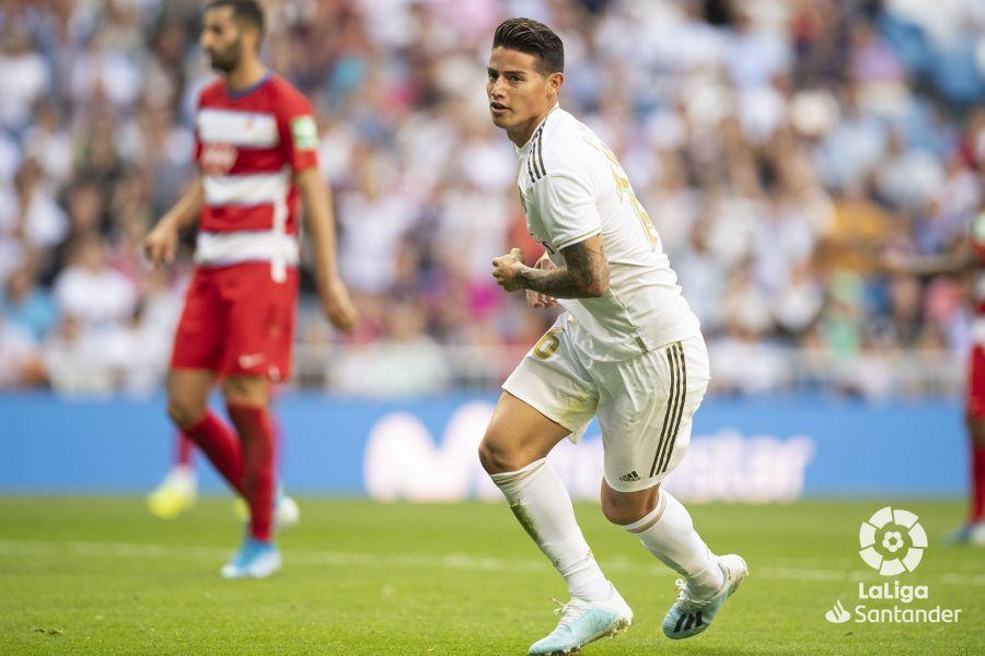Octava jornada de Liga 2019-2020. James Rodríguez, autor del último gol del Real Madrid ©LaLiga