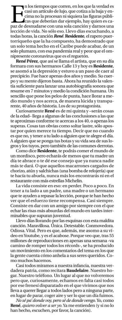 Artículo Diario de Ávila